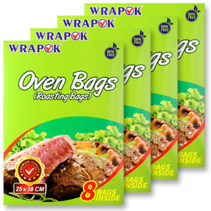 WRAPOK 16 Bags Oven Cooking Turkey Bags Large Size Ribs Baking Roasting Bags No