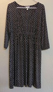 Soma Womens Casual Lounge Dress Size XL Black with Pink Design