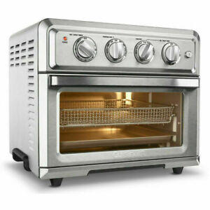CUISINART AIR FRYER TOASTER OVEN 1800 W 7 FUNCTION SILVER FACTORY REFURBISHED $145.00