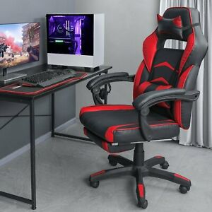 Gaming Chair Ergonomic Office Computer Gamer Chair with Headrest Lumbar Support $112.99