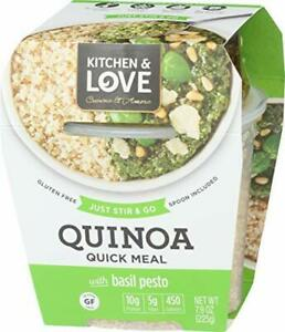 Kitchen amp; Love Basil Pesto Quinoa Quick Meal Single