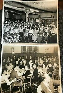 2 Antique Vintage 1949 Photo Factory Event amp; Office Workers Event Scranton PA