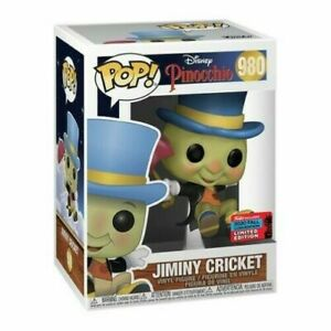 Funko Pop Disney Jiminy Cricket NYCC Shared Exclusive CONFIRMED Protector $29.99