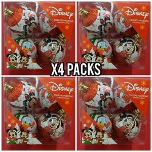 X4 Disney Mickey Mouse Multicolor Tree Hanging Decoration Ornaments