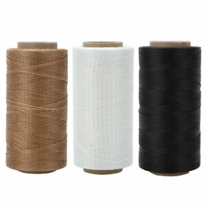 Heavy Duty Leather Sewing Waxed Thread Wax Cord String Hand Stitching Craft 150D $9.39