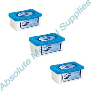 *3 Pack* IHC DermAssist Baby 300 Wipes 7.1quot; x 7.9quot; in Hard Tub Dispenser 80 400