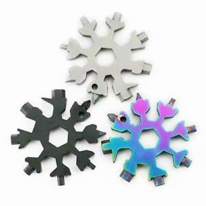 18 In 1 Stainless Tool MultiTool Portable Snowflake Shape Key Chain Screwdriver $2.99