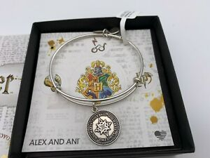 NEW Alex and Ani HARRY POTTER YULE BALL Charm Bangle Bracelet Silver NWT amp; BOX $25.99