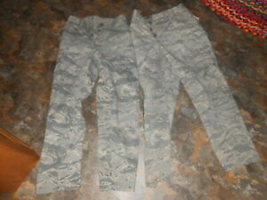 Air Force BDU Cargo Pants Digital Camouflage Men's Size 32R 32 Inseam 2 Pairs