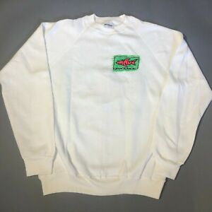 Vintage Maui And Sons White Long Sleeve Sweatshirt Adult Large 42 44 NOS