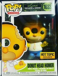 Funko Pop Simpsons Treehouse Of Horror Donut Head Homer Hot Topic Exclusive NEW $22.99