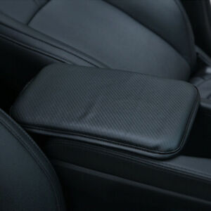 Car Black PU Leather Armrest Pad Center Console Cushion Mat Cover Pad Protector $7.79