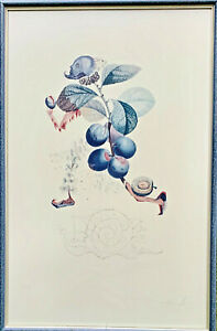 Dali Lithograph Running Plum Man Original Handsigned Limited $850.00
