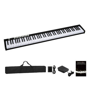 88 Keys Digital Home Piano Rechargeable Battery Bluetooth Black $167.38