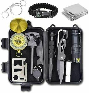 Emergency Survival Kit 12 in 1 Outdoor Camping Gear Lifesaving Tools