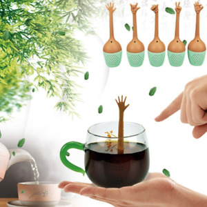 Leaf Tea Strainer Herbal Spice Holder Tea Diffuser Funny Silicone Brewing Tools $4.95