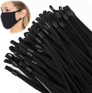 50 100 PCS Sewing Elastic Band Cord with Adjustable Buckle for DIY Mask Sewing $9.97