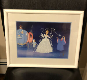 Cinderella Commemorative Lithograph Disney Store 1995 Framed $24.99