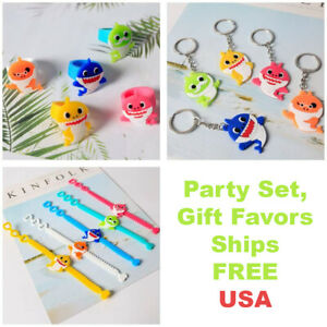 Shark Party Supplies For Kids Baby Set Birthday Decorations Shark Ring Keychain $12.99