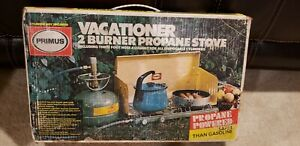 VINTAGE PRIMUS VACATIONER 2 BURNER Portable Propane CAMPING STOVE
