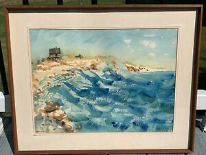 Original Watercolor Painting Cape Cod Seascape Signed Harold Rowe 2 of 2 $150.00