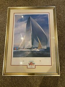 Americas Cup 1992 Lithograph signed numbered and with rare remarque $1800.00
