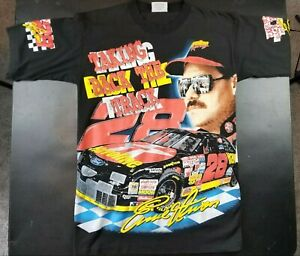Vintage Mens NASCAR Chase Authentics Ernie Irvan All Over Print T Shirt M READ