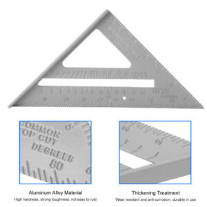 Right Angle Ruler 90 Angle Lightweight Ruler Aluminum Alloy For Woodworking $11.22