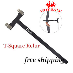 1X Archery Bow T Square Ruler Measurement Tool for Recurveamp;Compound Bow Black $9.50