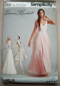 Designer evening gown dress pattern 8289 size 12 14 16 18 20 uncut