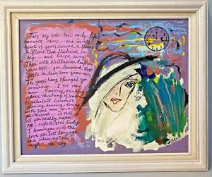 Phyllis Diller Original Painting quot;SOPHISTICATED LADYquot; 16 x 20 Mixed Media 2001 $450.00