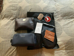 2 Turkish Airlines Business Class Amenity Kits Versace Molton Brown Goodies