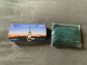 Turkish Airlines Economy Class Amenity Kit Vintage Tin Latest Pouch NICE