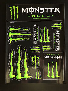 Monster Energy Racing Sticker Sheet Set of 12 Stickers Super Glossy Decals Kit $13.95
