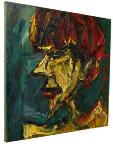 Original Expressionism Surreal Oil Painting Thick Impasto Oil Painting $375.00
