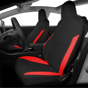 Custom for Tesla Model 3 Seat Cover 2017 2019 Durable Breathable PU Leather