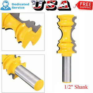 1 2#x27;#x27; Shank Crown Molding Router Bit Milling Cutter Tool Kit For Woodworking New $20.69