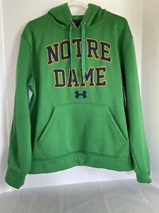 Notre Dame Under Storm Hooded Sweatshirt Adult Size Small Loose $22.00
