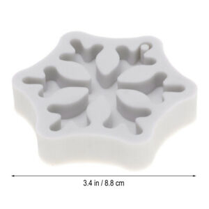 1PC Christmas Silicone Mold Snowflake Fondant Mold for Chocolate Clay Craft $6.18
