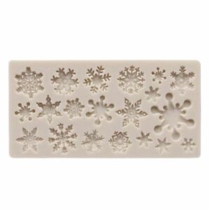 Snowflake Fondant Cake Mold Soap Chocolate Candy DIY Decorating Silicone Mould $10.99
