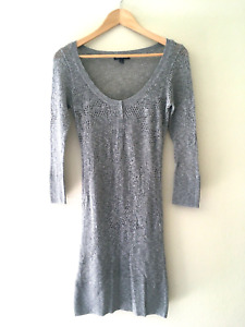 American Eagle Knit Overlay Dress size M Gray $10.00