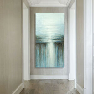 "48""X 36"" Modern Art Oil Painting Abstract Water Light Color Home Office Decor $98.79"