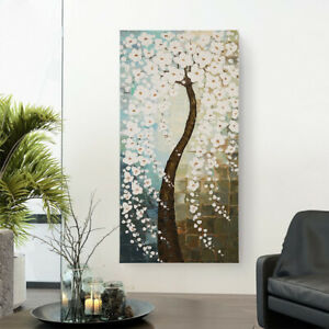 "31.49""x62.9quot; Modern Art Oil Painting Abstract Flower Tree Home Office Decor $280.00"