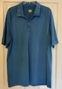 Mens UNDER ARMOUR XL Polo Shirt Side Vents Cooling Blue 1X Golf Casual X Large $19.97