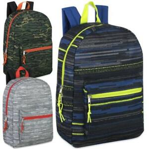 17quot; Basic Boys Backpacks 4 Assorted Printed Case Pack 24 $236.47