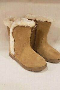 Cat amp; Jack Hadlee Tan Microfiber Fashion Boots Youth Girls Size 2 NEW $16.50