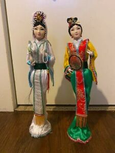 Beautiful 10quot; Handmade Chinese Dolls 2 Handcrafted and woven artwork $64.00