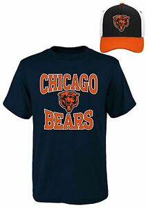 NEW NFL Chicago Bears Youth T shirt and Hat combo YM 10 12