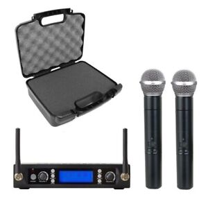 UHF Dual Wireless Microphone System for Shure SM58 Vocal Mics with Carrying Case $169.00