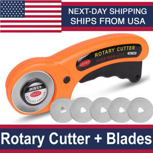 Rotary Cutter With 45mm Blades Sewing Quilters Fabric Leather Cutting Tool kit $12.99